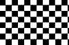 Чёрно-белый клетчатый